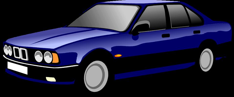 Illustration of a blue sedan : Free Stock Photo