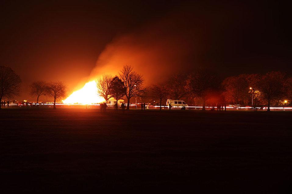 A large bonfire at night : Free Stock Photo
