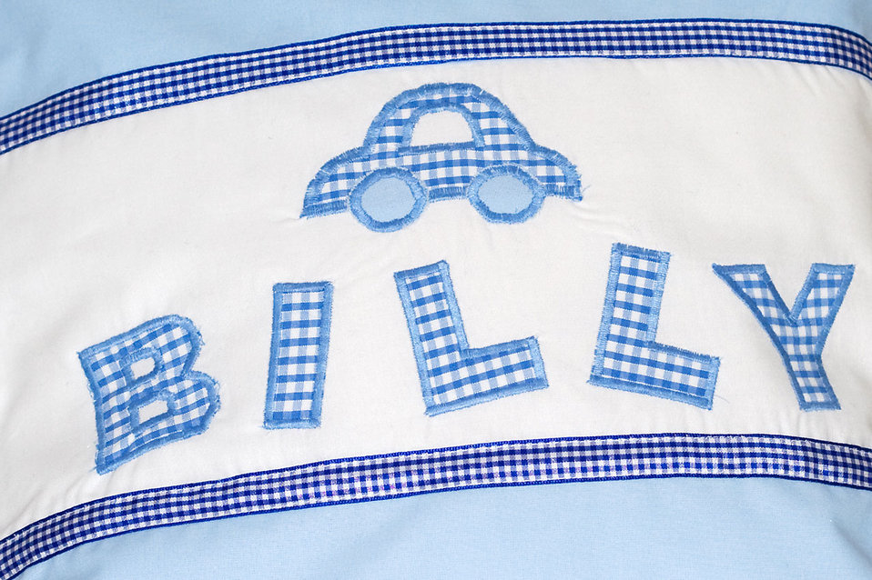 A baby blanket with the name Billy on it : Free Stock Photo