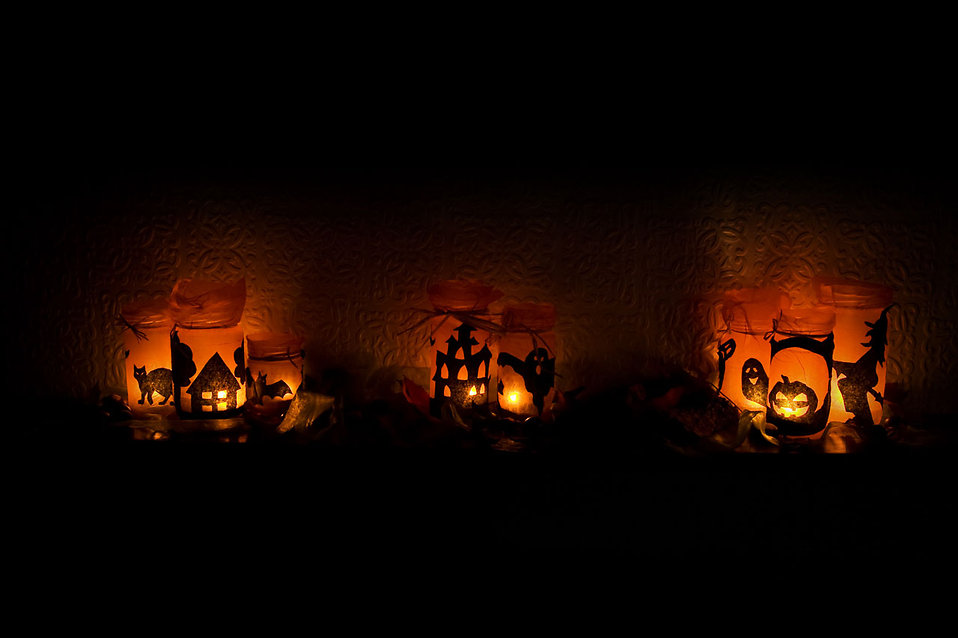 halloween lights free stock photo
