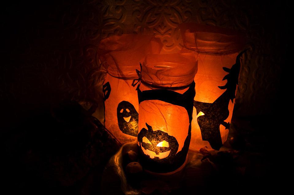 Halloween lights : Free Stock Photo