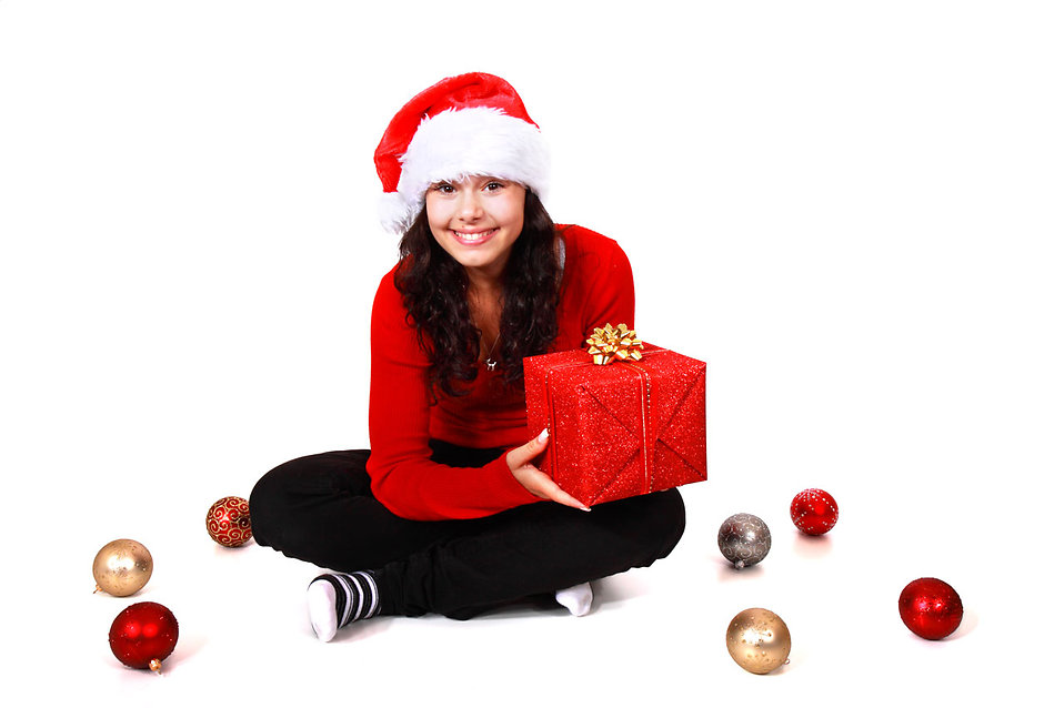 Santa Girl | Free Stock Photo | A beautiful young woman with a ...