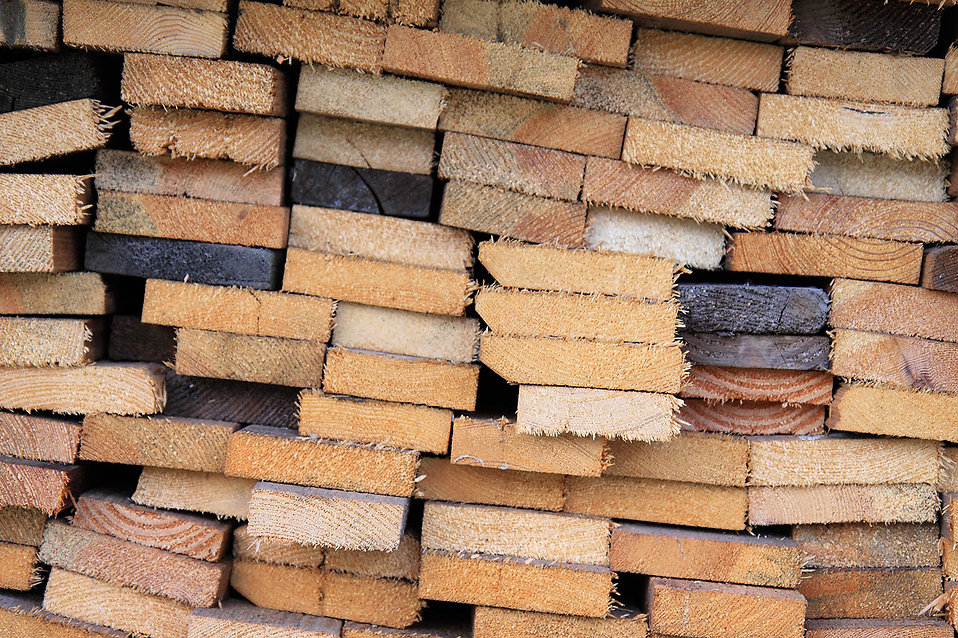 A stack of firewood planks : Free Stock Photo