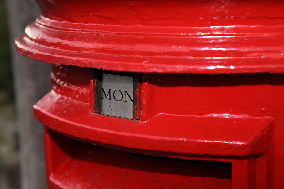 A red British postbox : Free Stock Photo