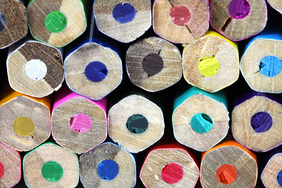 A pile of colored pencils : Free Stock Photo