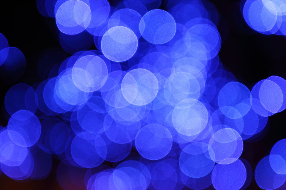 Blurred blue lights : Free Stock Photo