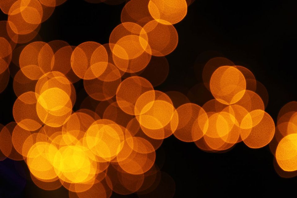 Blurred orange lights : Free Stock Photo