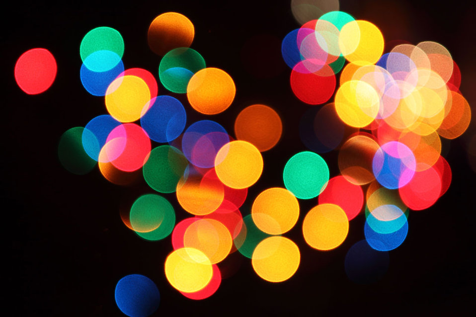 Blurred colored lights : Free Stock Photo