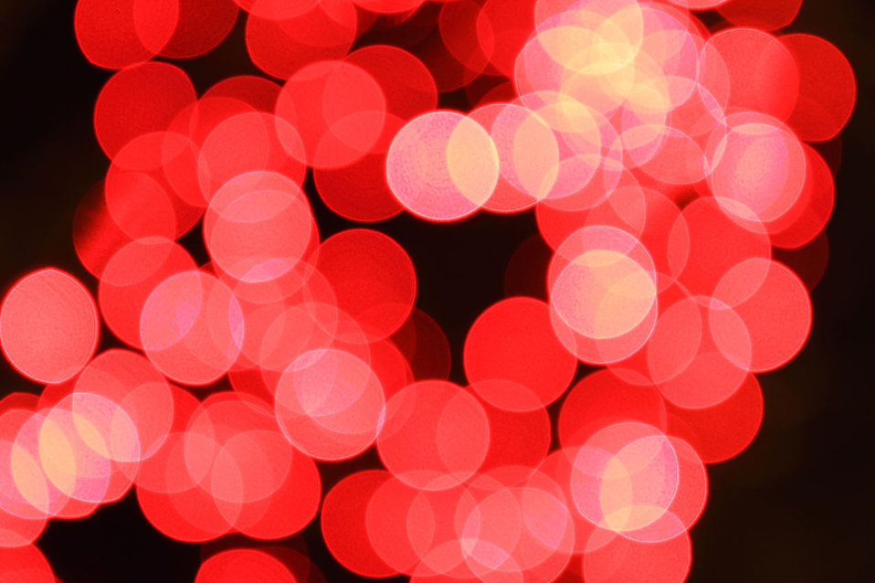 Blurred red lights : Free Stock Photo