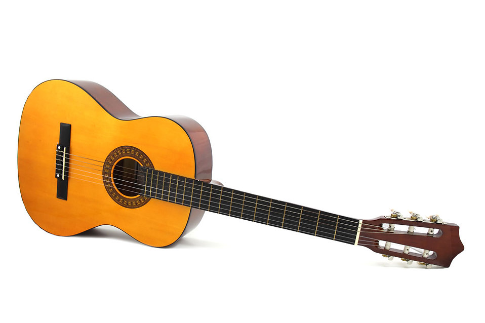 An acoustic guitar isolated on a white background : Free Stock Photo