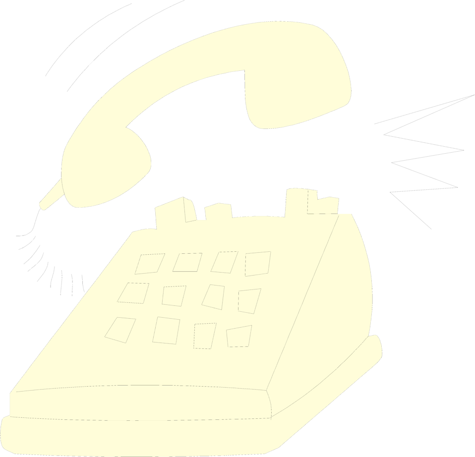 Illustration of a telephone ringing : Free Stock Photo