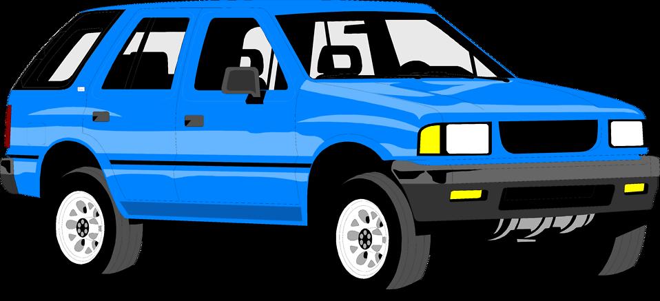 Illustration of a blue sports utility vehicle : Free Stock Photo