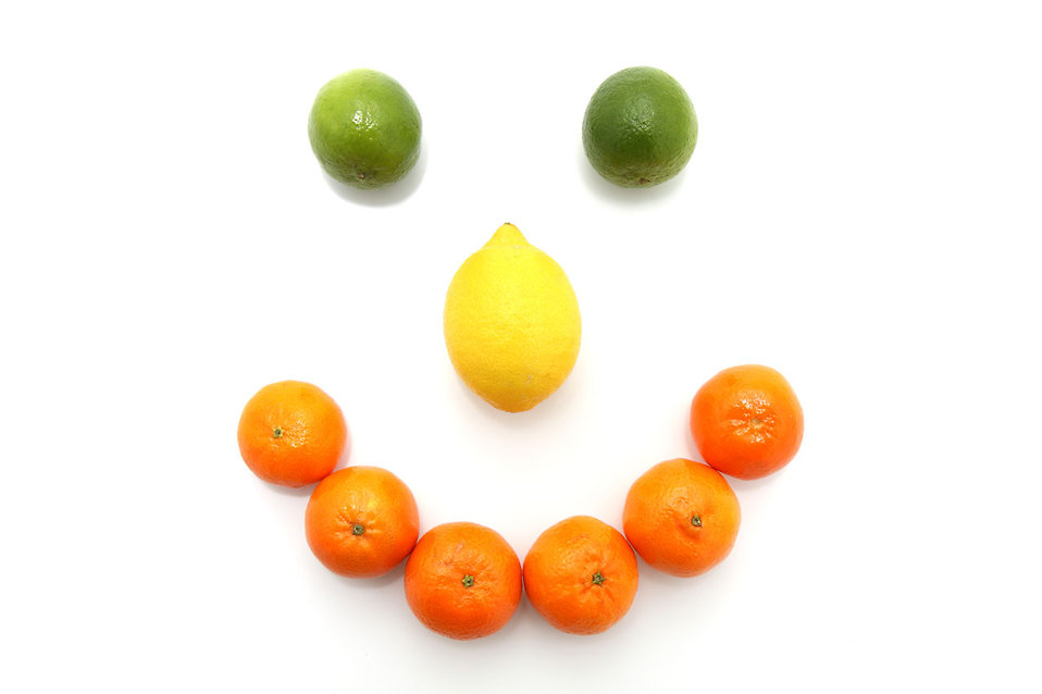 A smile made from citrus fruit : Free Stock Photo