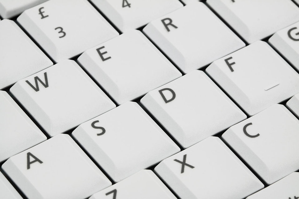 Close-up of a white keyboard : Free Stock Photo