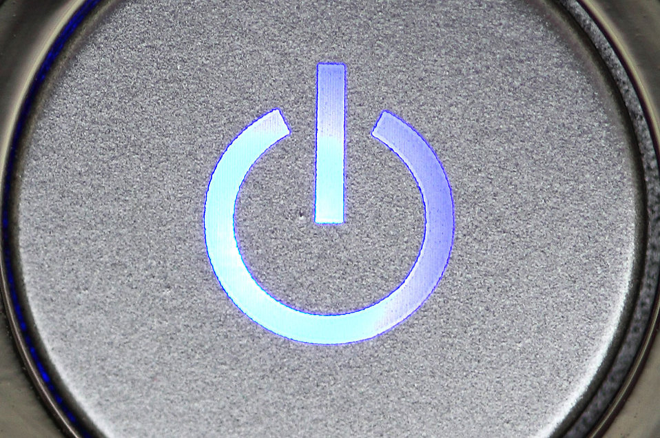 Power button on the side of a computer : Free Stock Photo