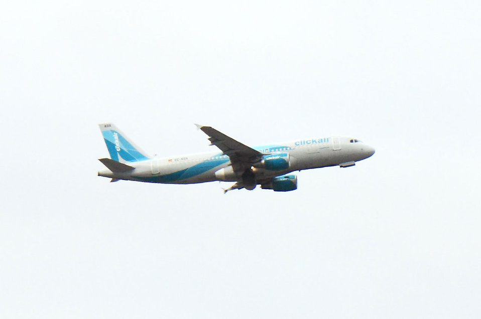 A passenger airplane preparing to land : Free Stock Photo
