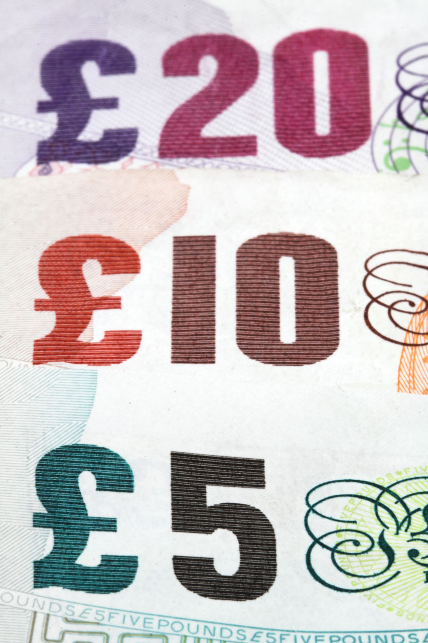 Several British bank notes : Free Stock Photo