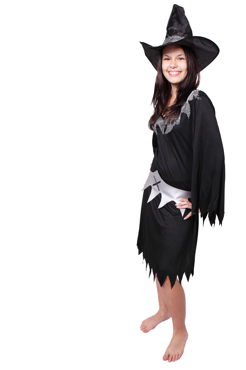 witch | free stock photo | a beautiful girl in a halloween witch