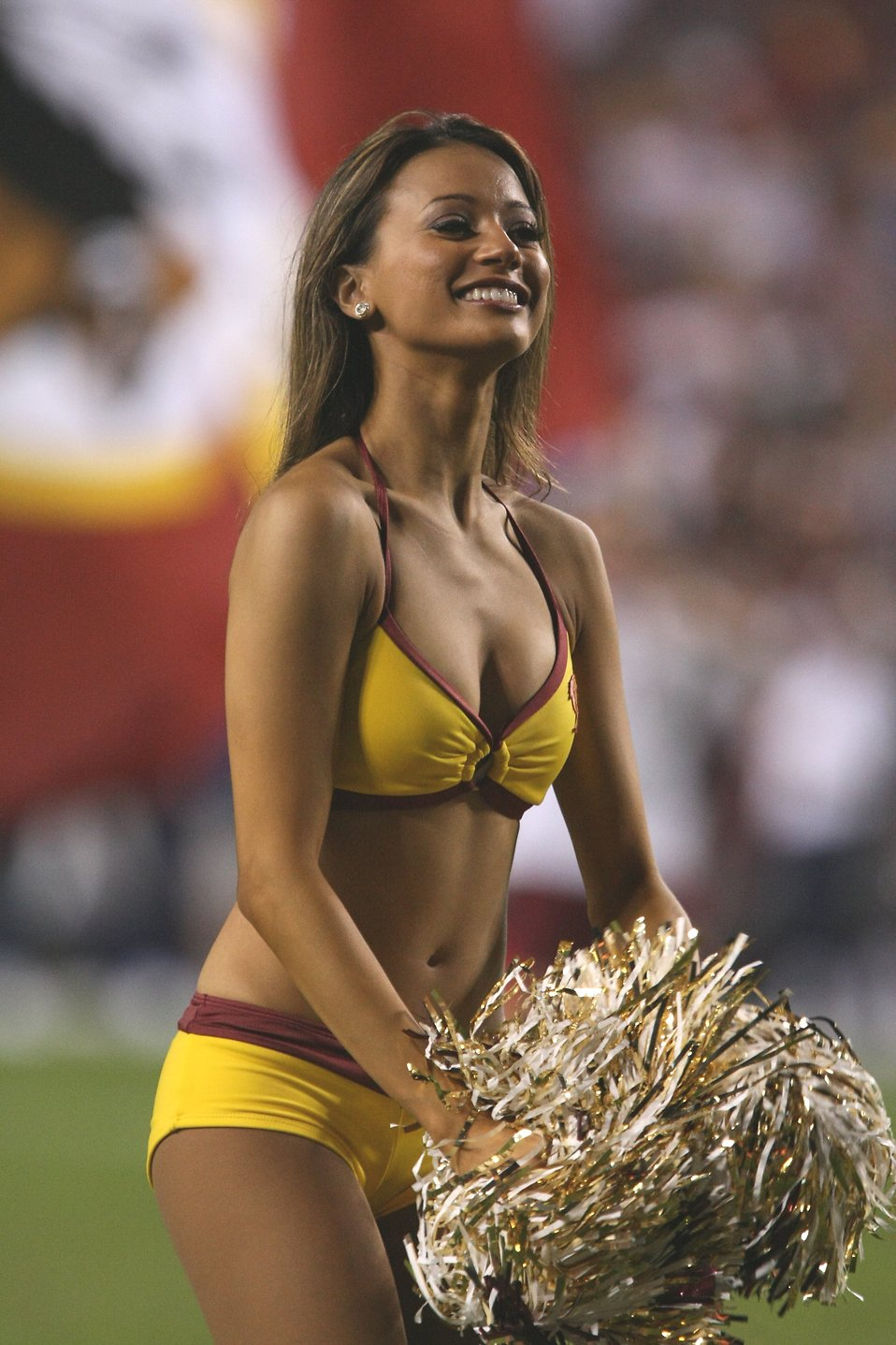 cheerleaders | free stock photo | a washington redskins cheerleader
