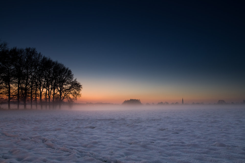 sunset free stock photo winter landscape with trees 9335