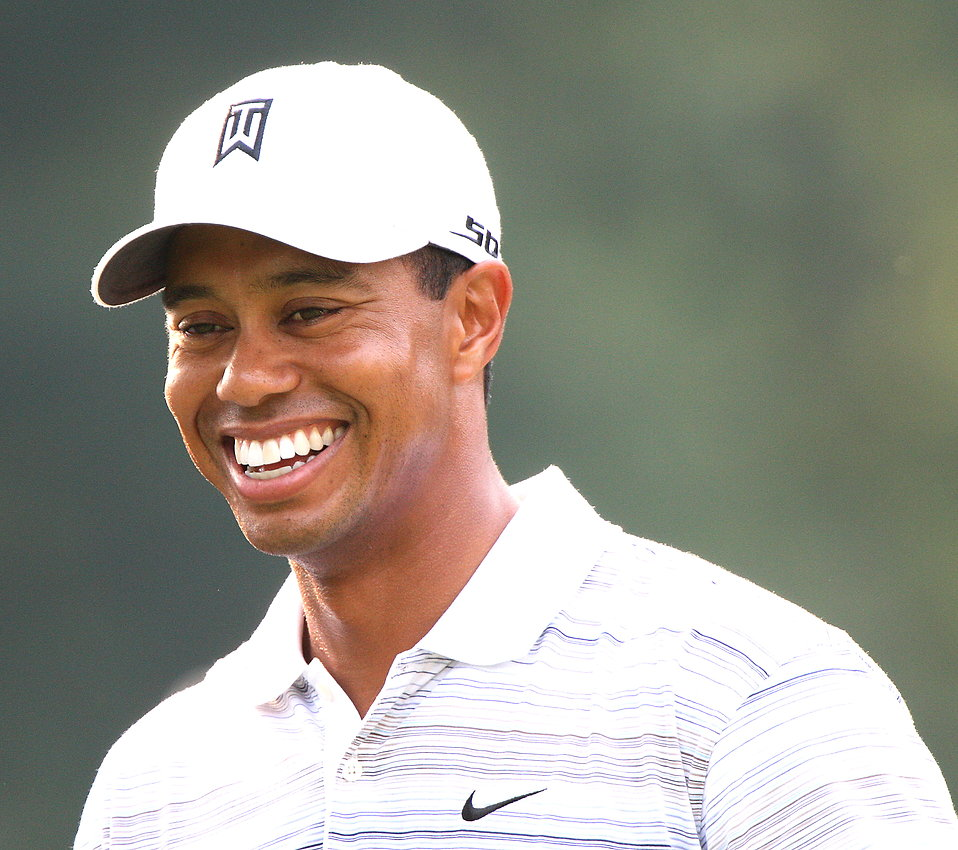 Close-up of Tiger Woods : Free Stock Photo