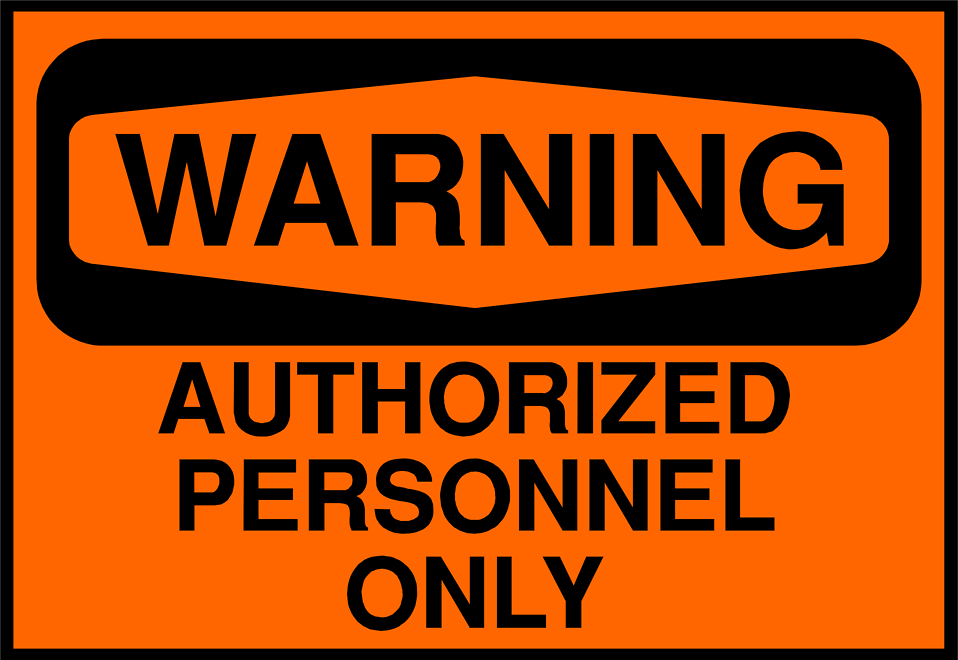 Illustration of an authorized personnel warning sign : Free Stock Photo