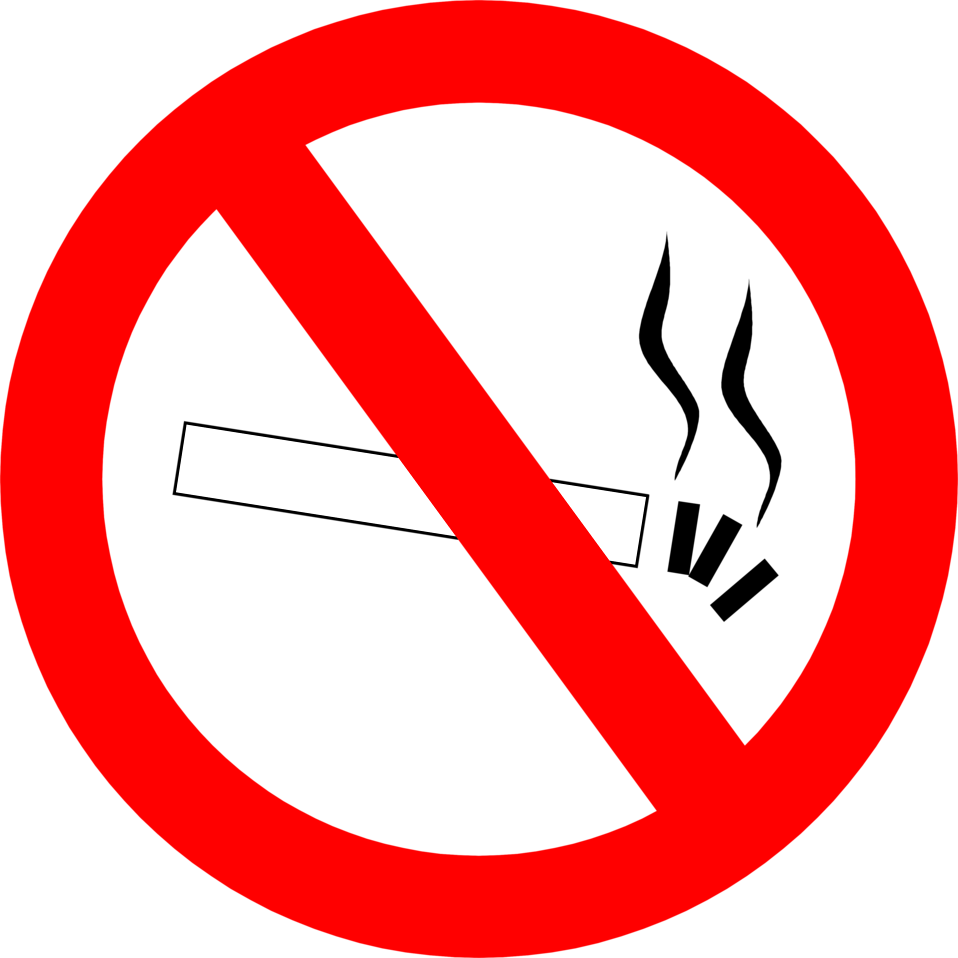 Illustration of a no smoking symbol.