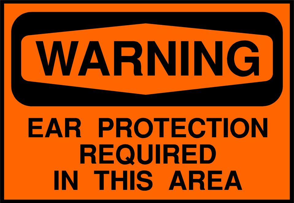 Illustration of an ear protection warning sign : Free Stock Photo