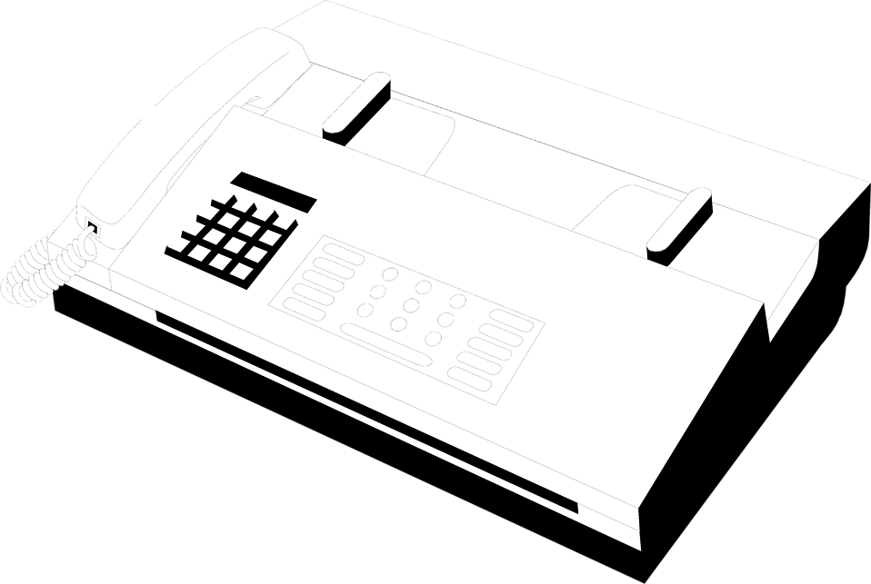 Illustration of a fax machine : Free Stock Photo