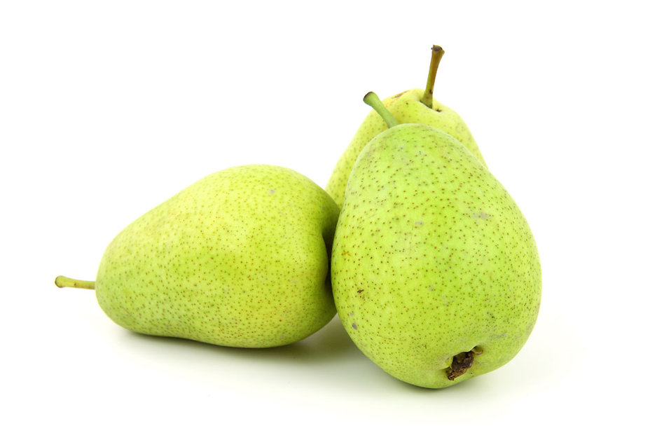 Fresh pears isolated on a white background : Free Stock Photo