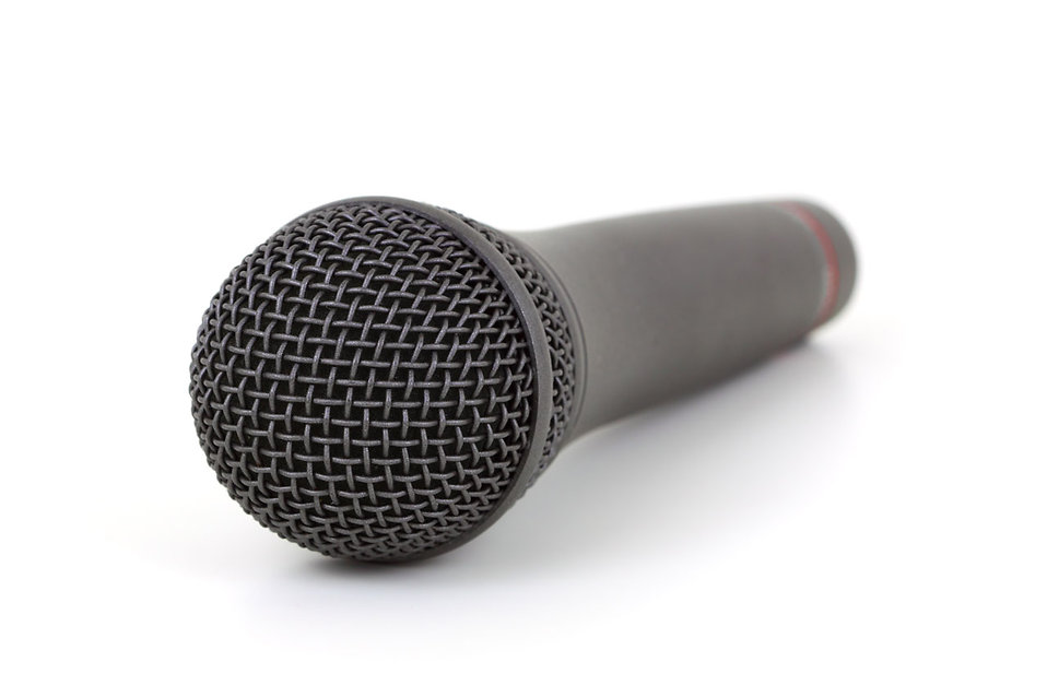 A microphone isolated on a white background : Free Stock Photo
