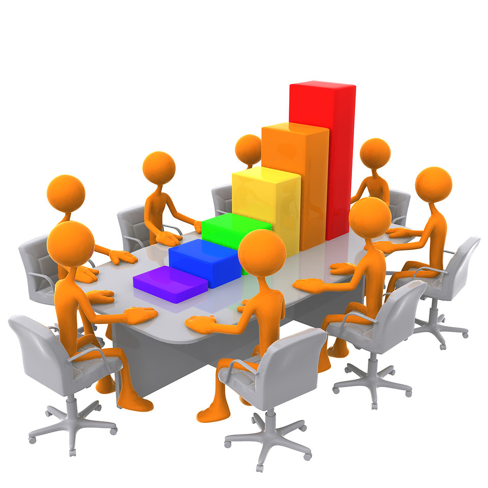 Meeting Clipart | Free Stock Photo | 3D bar graph meeting | # 9551