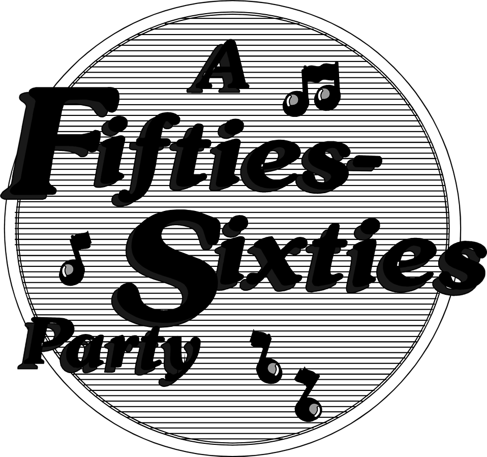 Illustration of a fifties-sixties party sign : Free Stock Photo