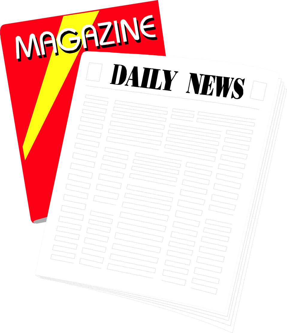 Illustration of a newspaper and magazine : Free Stock Photo
