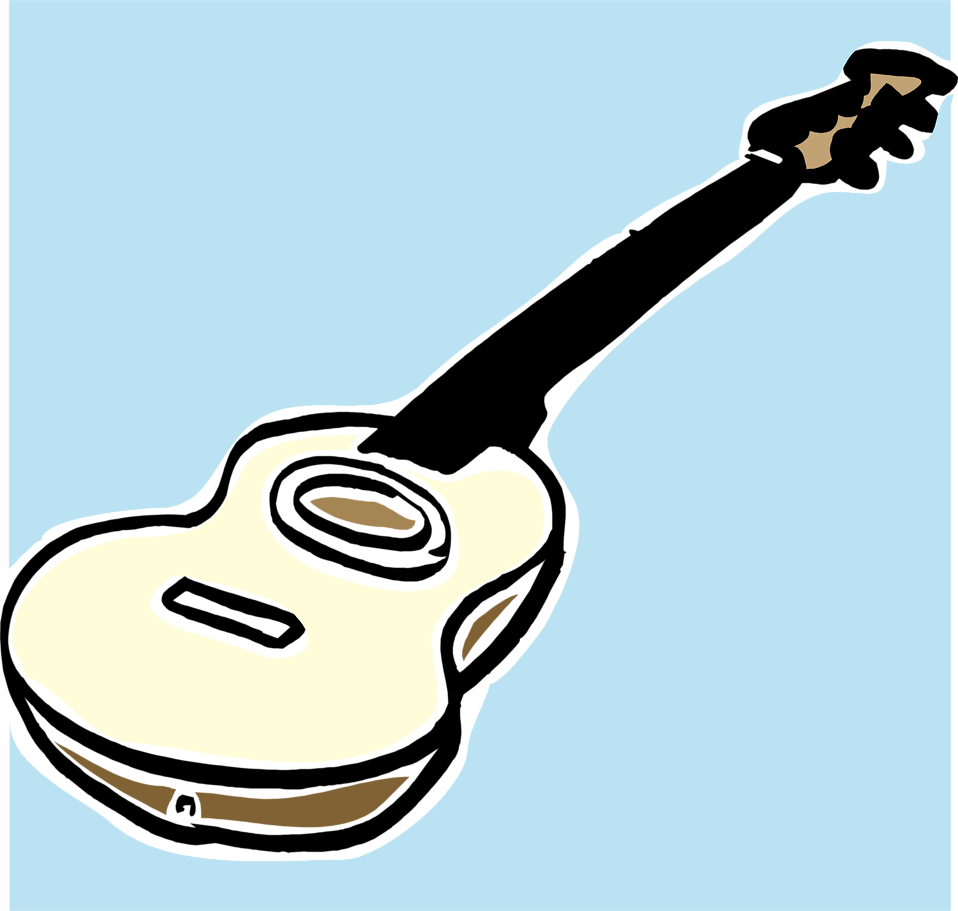 Illustration of a guitar : Free Stock Photo