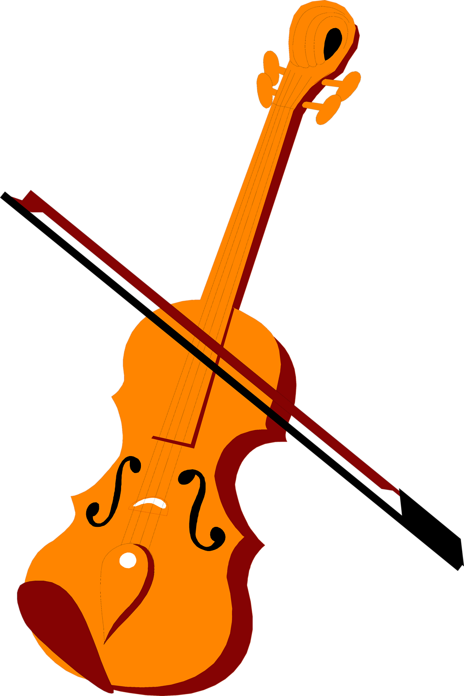 Illustration of a violin and bow : Free Stock Photo