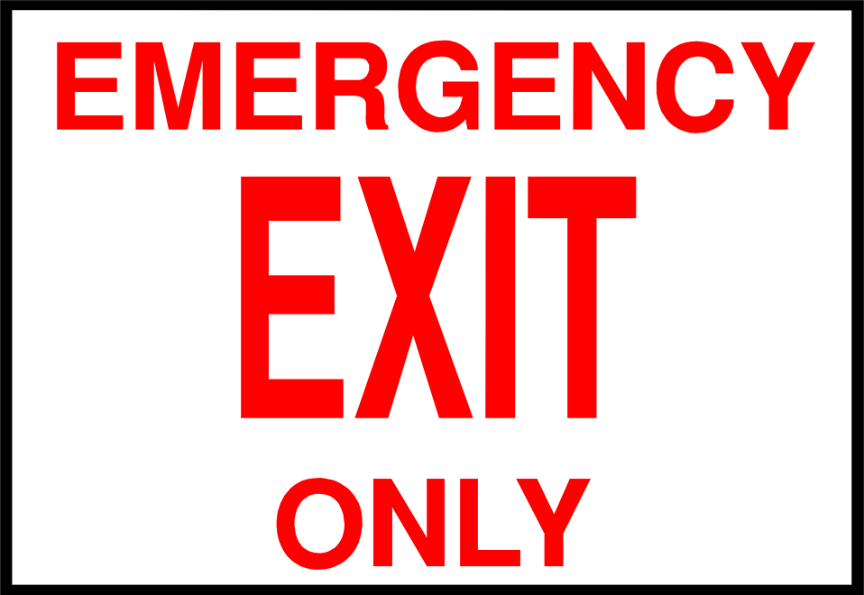 Illustration of an emergency exit sign : Free Stock Photo