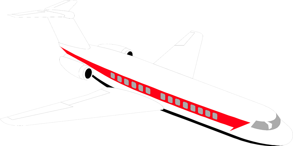 Illustration of a passenger jet airplane : Free Stock Photo