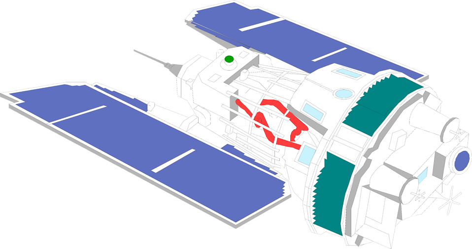 Illustration of a satellite : Free Stock Photo