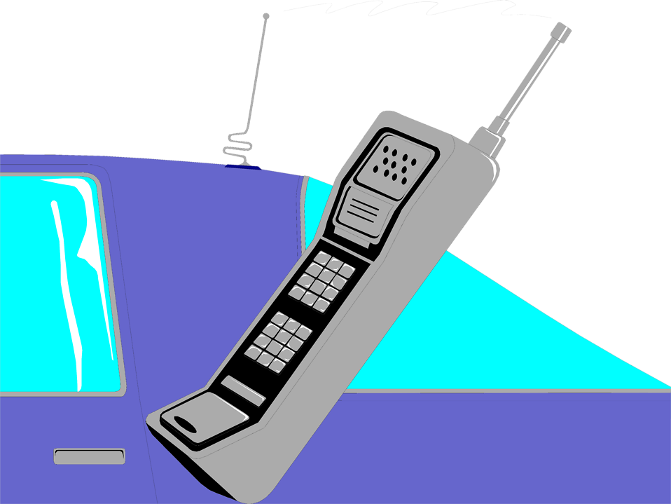Illustration of a car phone : Free Stock Photo