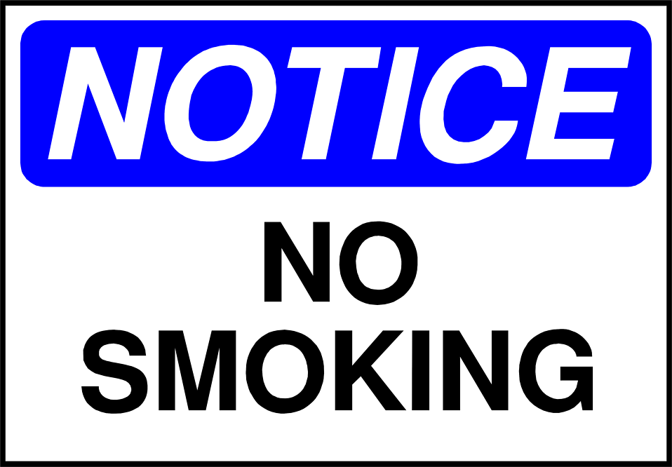 Illustration of a no smoking sign : Free Stock Photo