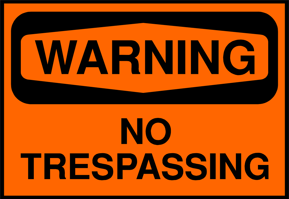 Illustration of a no trespassing sign : Free Stock Photo