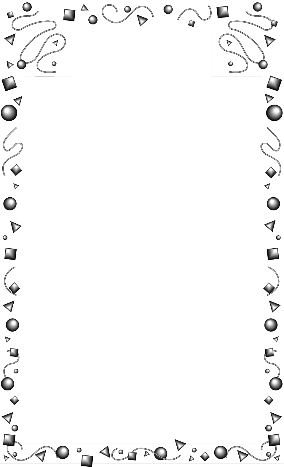 Illustration of a blank confetti border : Free Stock Photo