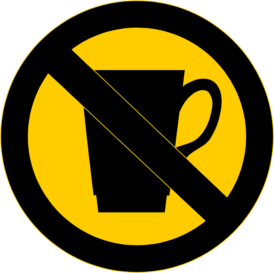 Illustration of a no drinks sign : Free Stock Photo