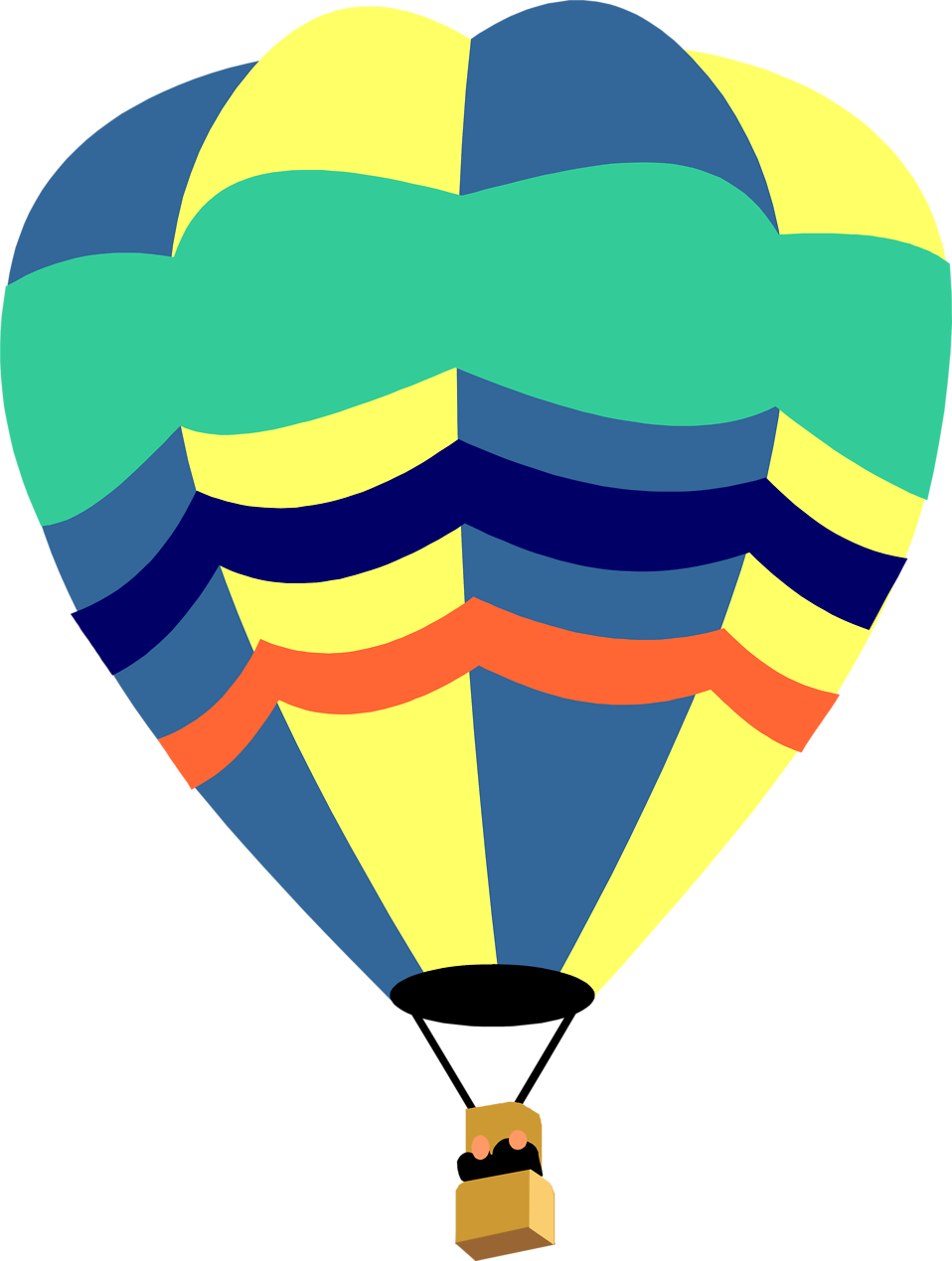 Illustration of a hot air balloon : Free Stock Photo