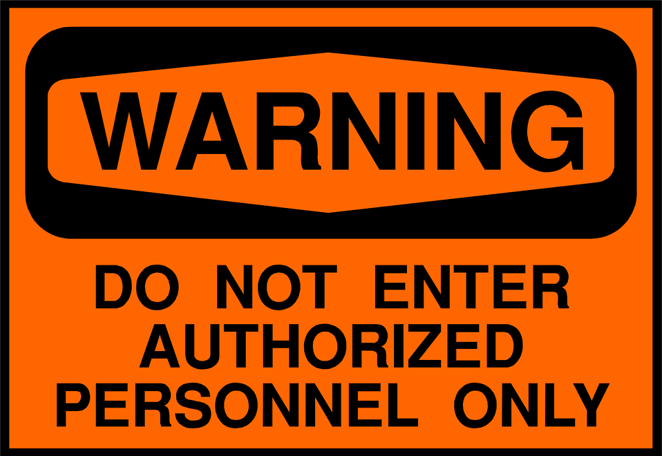 Illustration of a do not enter warning sign : Free Stock Photo