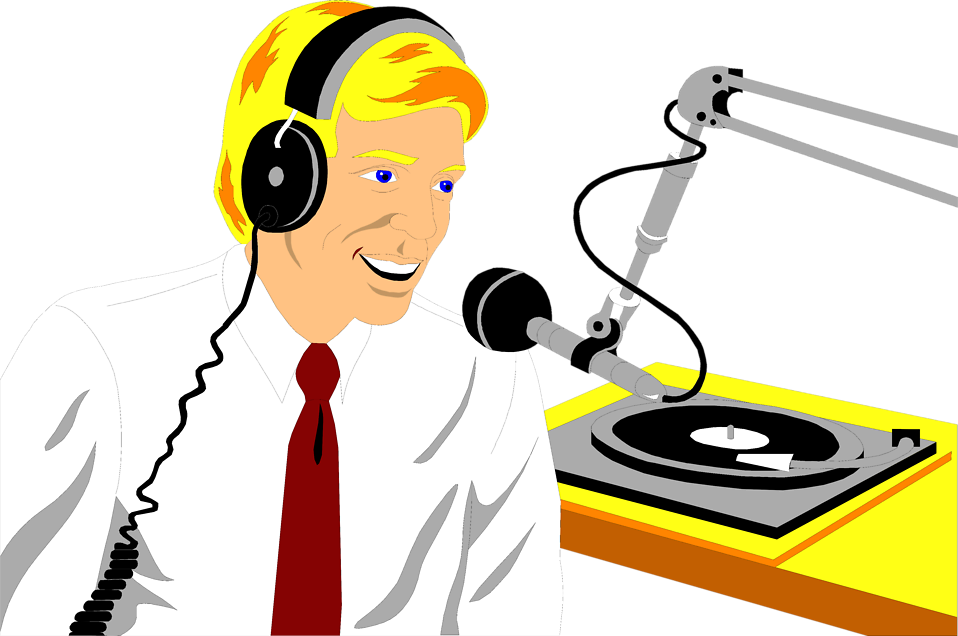 Illustration of a radio disc jockey : Free Stock Photo