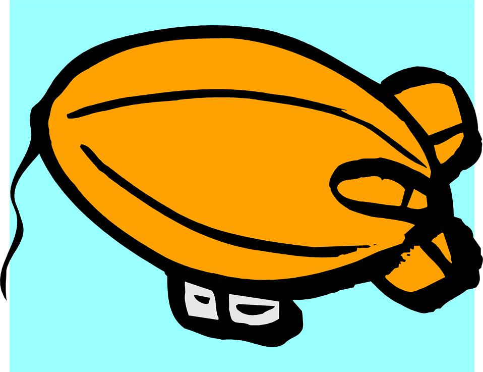 Illustration of an orange blimp : Free Stock Photo