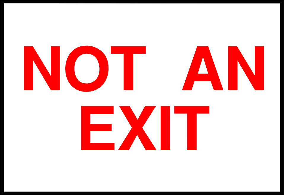 Illustration of a no exit sign : Free Stock Photo