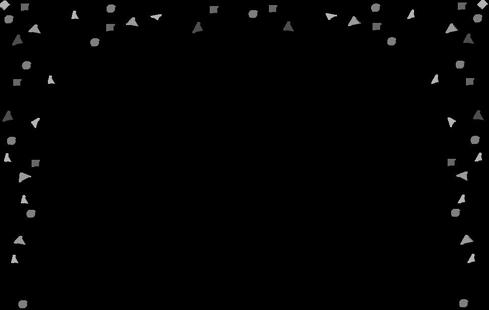 Illustration of a blank confetti border : Free Stock Photo